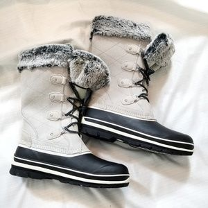 WINTER BOOTS Faux Fur Leather Rated to -20 Degrees